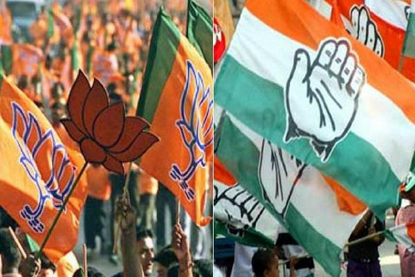 bjp congress dispute in congress police filed case under sc  st act