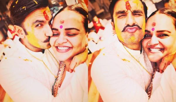 shanoo sharma share pictures from ranveer singh haldi ceremony