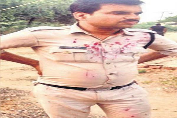 violence against villagers attacked police