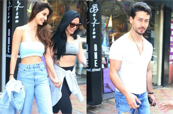 disha patani lunch date with tiger and krishna shroff