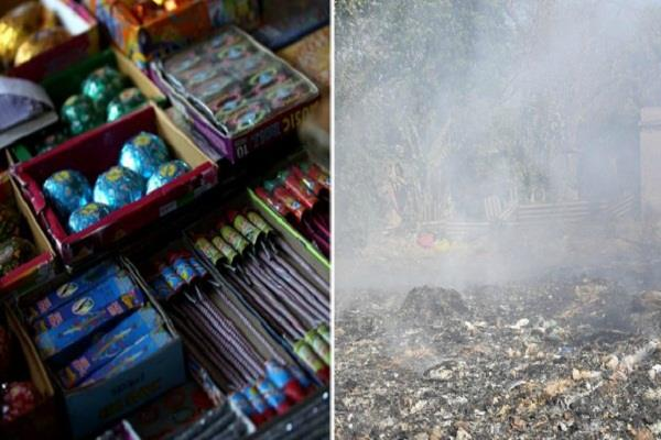 one side crackers ban on the other hand from garbage being burnt