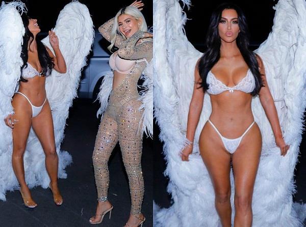kim kardashian celebrates halloween 2018 with sisters