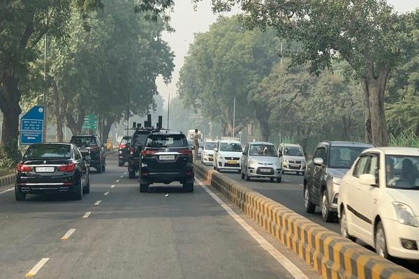 no blockage of traffic as pm modi leaves for chhattisgarh