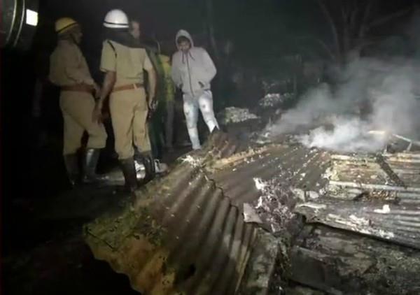 delhi in the rohini burning of 70 huts
