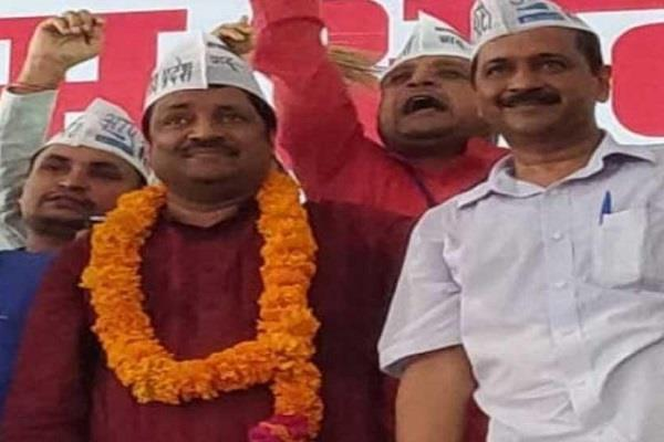 national vice president of gondwana republic party joins aap