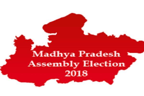 voting in madhya pradesh between strong security