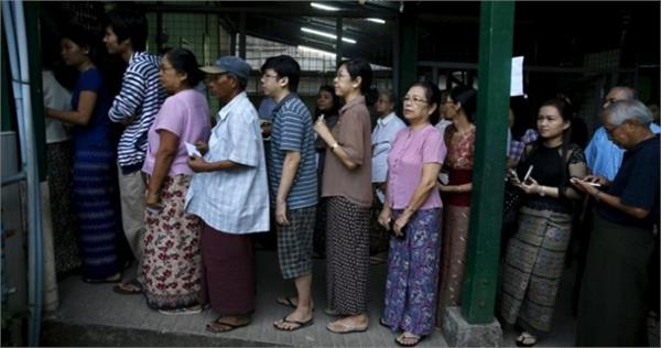 myanmar parliamentary by elections underway