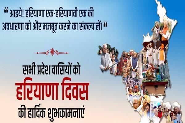 ramnath kovind tweeted on haryana day