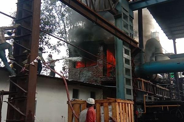 fire in company making railway parts
