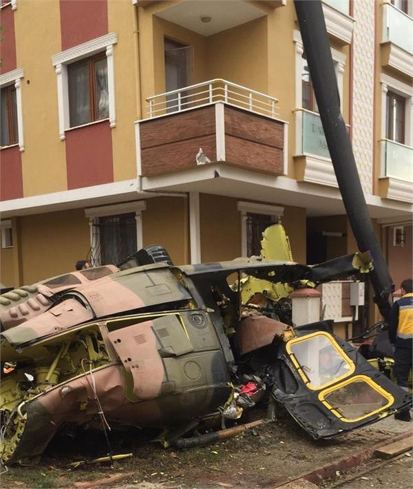 turkish military plane crashes in residential area in istanbul