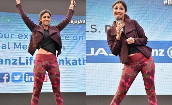 shilpa shetty lead india to set guinness world record with plankathon