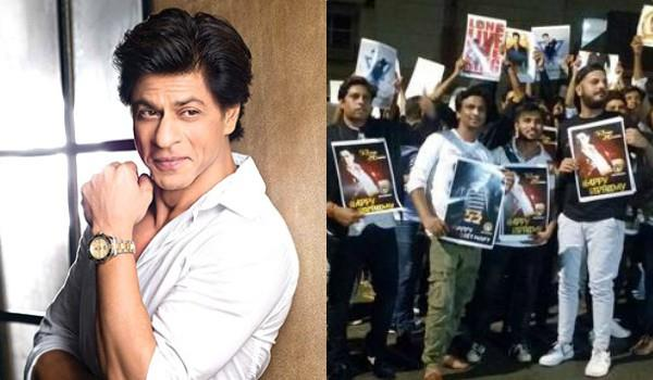 shahrukh khan celebrates birthday with fans