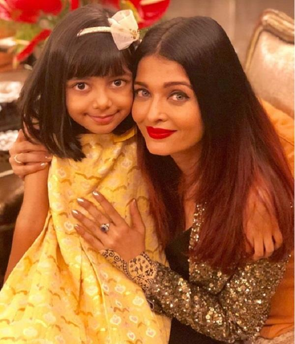 aaradhya bachchan gave this special surprise to mummy
