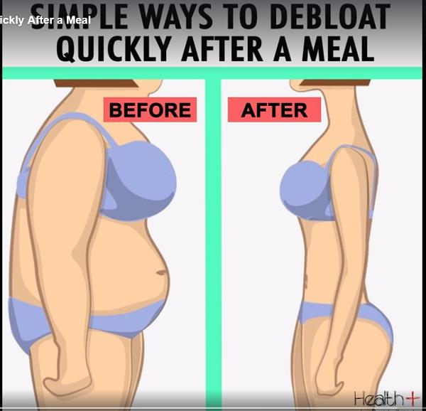 simple ways to debloat quickly after a meal