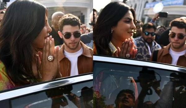 priyanka and nick reached jodhpur airport