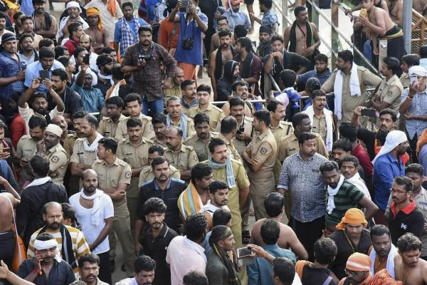 tensions related to the women who came to see lord ayyappa