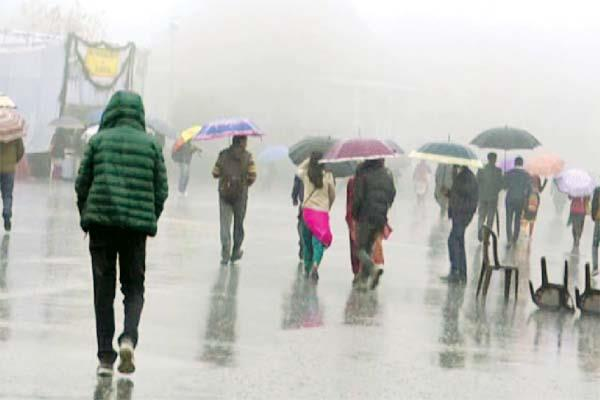 rainfall and snowfall in himachal temperature below zero in kelang