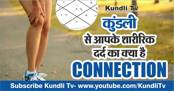 relation of kundli and physical pain