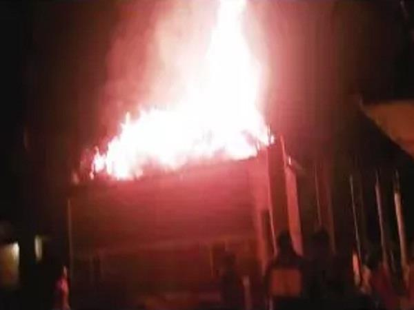 a fire in a cattle store in khatad village