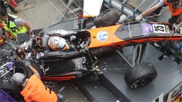 f3 driver sophia floersch fractures spine in horrifying high speed crash