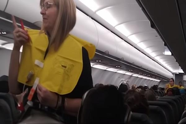 flight attendant s  stand up  comedy about life jacket
