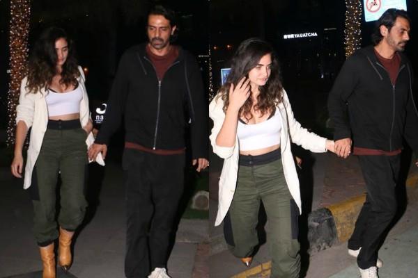 arjun rampal spotted with gabriella demetriades