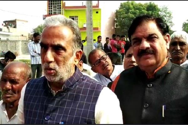 central minister krishanpal gurjar attcacked on congress