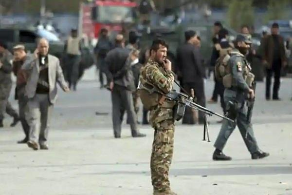 a mosque explosion on afghan military base many people die