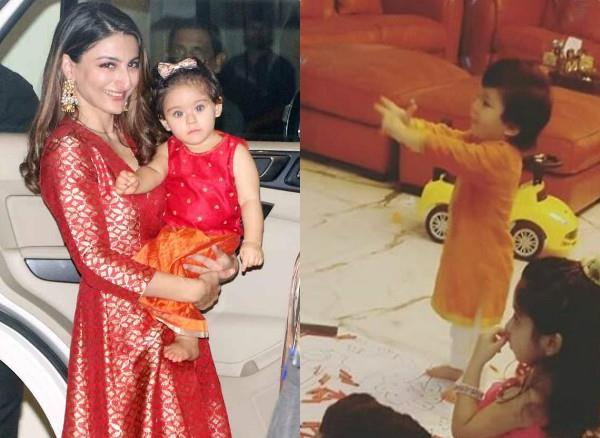 taimur and inaaya pre diwali celebration at play school
