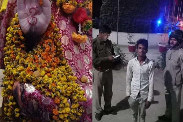 amethi failure to burn idol in famous sai temple youth arrested