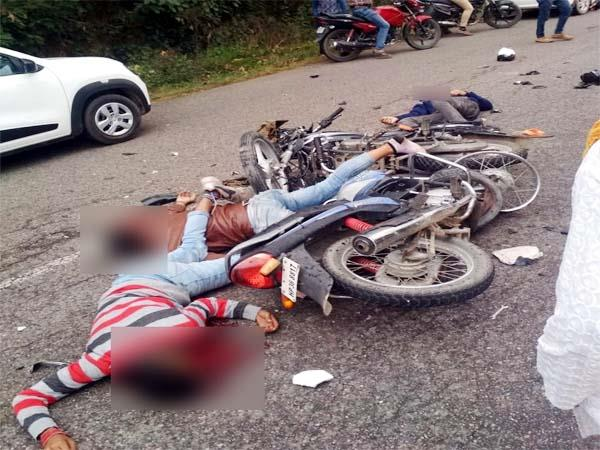 painful incident  death of 3 youth in bike accident