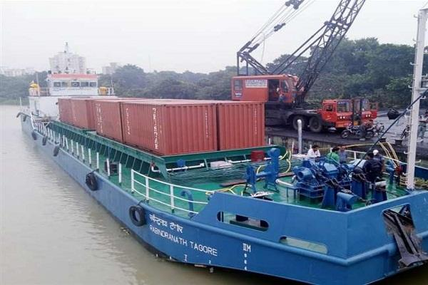 modi will be the first container ship in varanasi on inland waterway