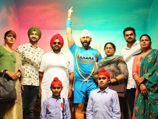 sandeep singh statue unveiled at jaipur wax museum