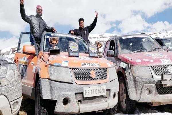 divakar captured the overall trophy of raid di himalaya car rally