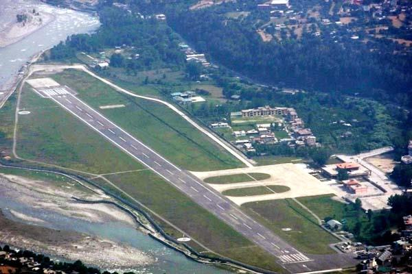 extension of bhuntar airport by underground beas river