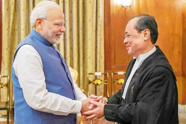 modi s hard work to woo cji ranjan gogoi