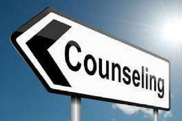 counseling of selected candidates for the post of executive