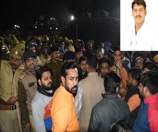 bjp leader knife stabbed to death cm gives compensation of rs 10 lakh