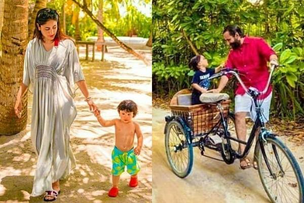 taimur ali khan is chilling with mommy kareena daddy saif in south africa