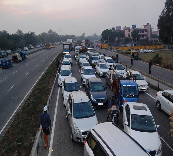 farmers protest national highway jaam