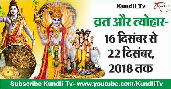 fast and festivals from 16th december to 22nd december