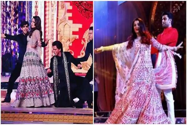 aishwarya abhishek and shah rukh did the dance with the ambani family