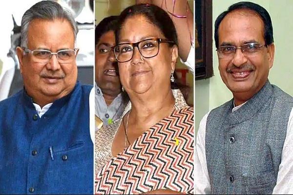 छत्तीसगढ़, राजस्थान और मध्य प्रदेश के 3 पूर्व CM का क्या होगा, चिंतन शुरू