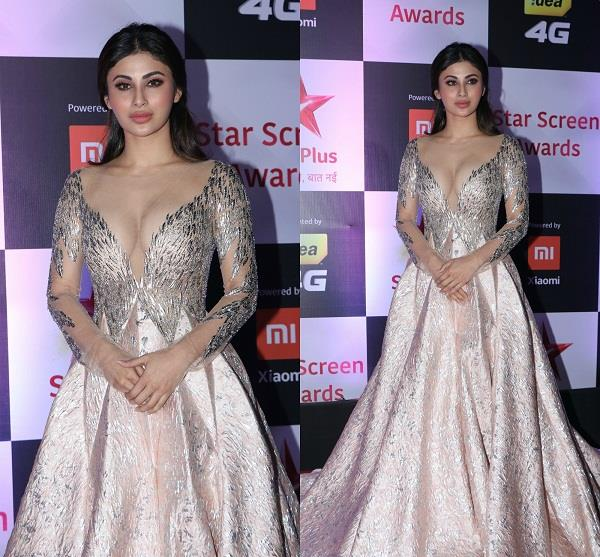 mouni roy at star screen awards 2018