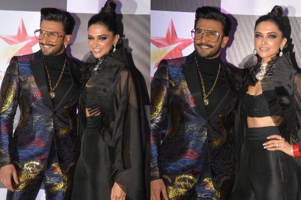 deepika padukone ranveer singh at star screen awards 2018