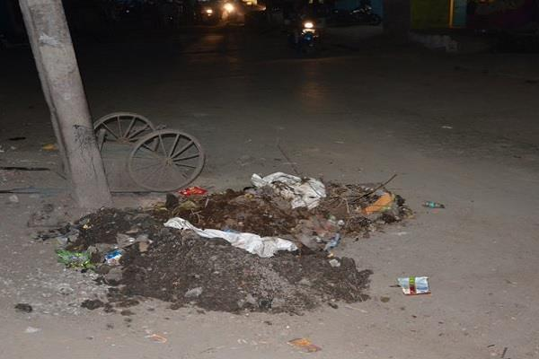 meaning less is cleanliness campaign garbage dump in the city