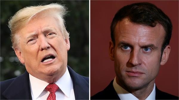 trump blames france riots on paris climate agreement