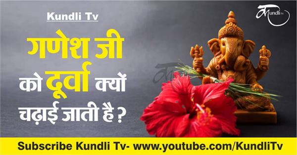 why we offer durva to lord ganesha