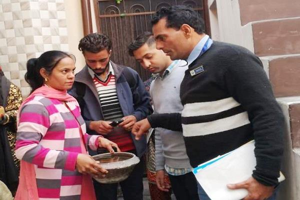 health department teams get 6 houses dengue larva with fridge