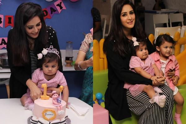 chahatt khanna celebrate daughter ammaayra 1st birthday